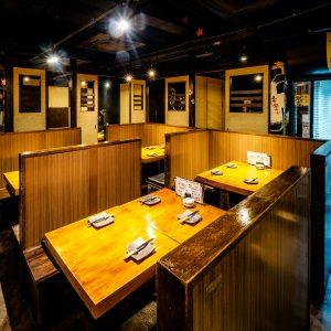 仕事帰りの飲み会なら「鶏豚きっちん 渋谷道玄坂店」アットホームな感じの店内。